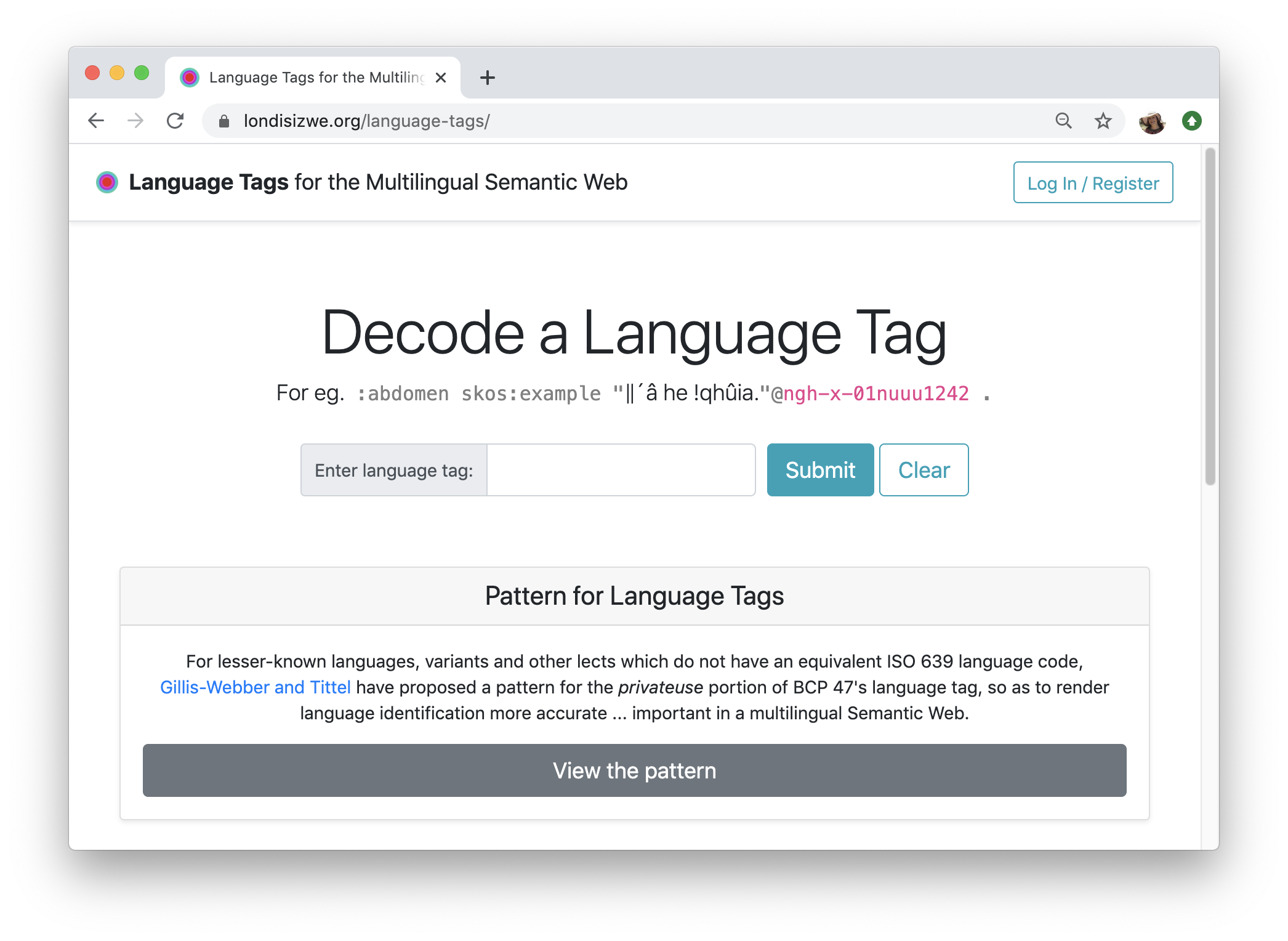 Language Tags for the Multilingual Semantic Web